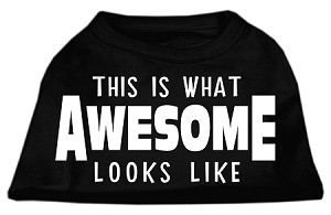 This is What Awesome Looks Like Dog Shirt Black XS (8)