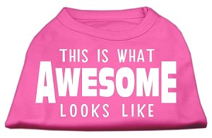 This is What Awesome Looks Like Dog Shirt Bright Pink Med (12)