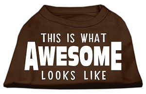 This is What Awesome Looks Like Dog Shirt Brown XS (8)