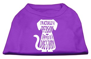 Trapped Screen Print Shirt Purple XS (8)