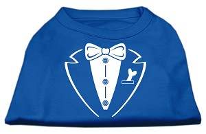 Tuxedo Screen Print Shirt Blue XXL (18)