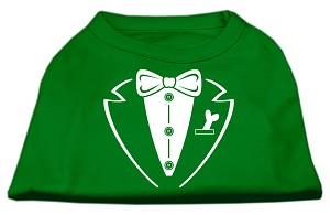 Tuxedo Screen Print Shirt Emerald Green Sm (10)