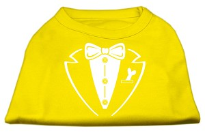 Tuxedo Screen Print Shirt Yellow Med (12)