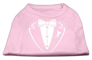 Tuxedo Screen Print Shirt Light Pink Lg (14)