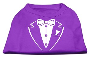 Tuxedo Screen Print Shirt Purple Sm (10)
