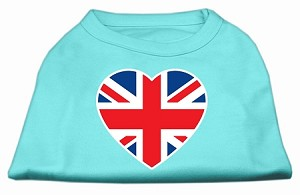 British Flag Heart Screen Print Shirt Aqua Med (12)