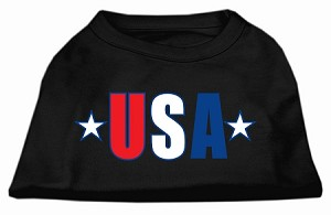 USA Star Screen Print Shirt Black Med (12)