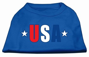 USA Star Screen Print Shirt Blue Med (12)
