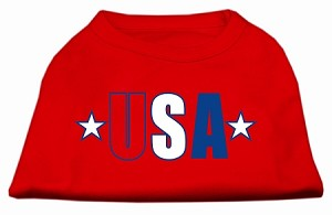 USA Star Screen Print Shirt Red XL (16)
