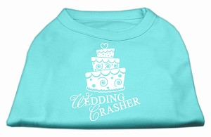 Wedding Crasher Screen Print Shirt Aqua Sm (10)