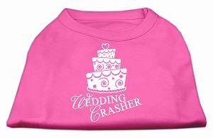 Wedding Crasher Screen Print Shirt Bright Pink Lg (14)
