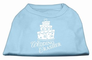 Wedding Crasher Screen Print Shirt Baby Blue Med (12)