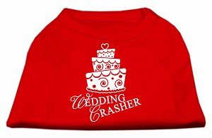 Wedding Crasher Screen Print Shirt Red Lg (14)