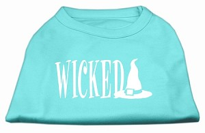 Wicked Screen Print Shirt Aqua XXXL(20)