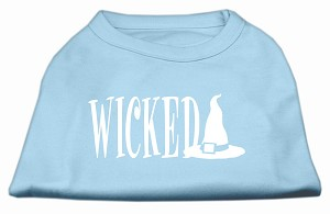 Wicked Screen Print Shirt Baby Blue XS (8)