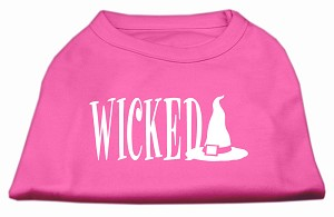 Wicked Screen Print Shirt Bright Pink XS (8)