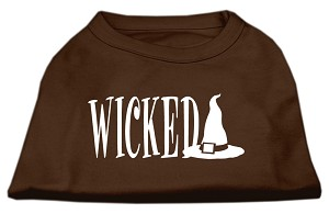 Wicked Screen Print Shirt Brown Lg (14)
