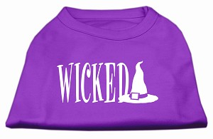 Wicked Screen Print Shirt Purple XS (8)