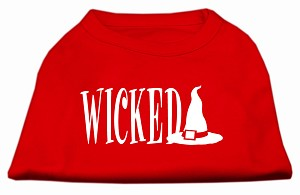 Wicked Screen Print Shirt Red XL (16)