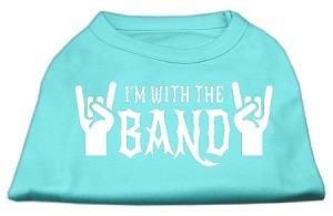 With the Band Screen Print Shirt Aqua Sm (10)