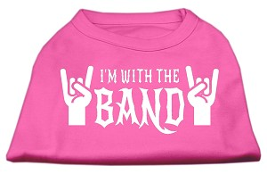 With the Band Screen Print Shirt Bright Pink XL (16)