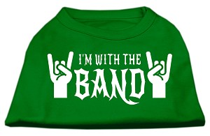 With the Band Screen Print Shirt Green XXXL (20)
