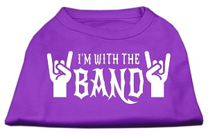 With the Band Screen Print Shirt Purple Lg (14)