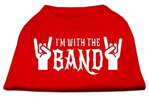 With the Band Screen Print Shirt Red XS (8)