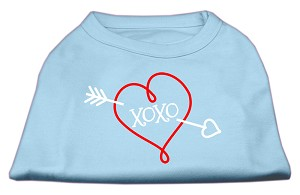 XOXO Screen Print Shirt Baby Blue Lg (14)