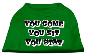 You Come, You Sit, You Stay Screen Print Shirts Emerald Green XS (8)