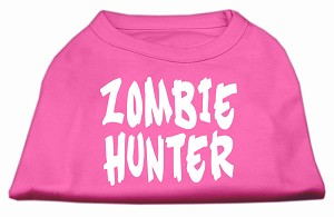 Zombie Hunter Screen Print Shirt Bright Pink XL (16)