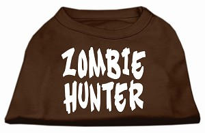 Zombie Hunter Screen Print Shirt Brown XXL (18)