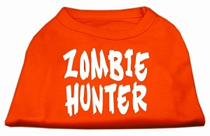 Zombie Hunter Screen Print Shirt Orange Sm (10)