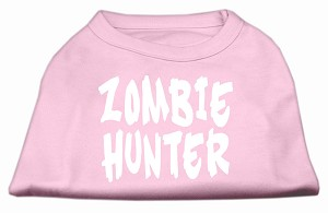 Zombie Hunter Screen Print Shirt Light Pink XXXL(20)