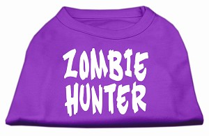 Zombie Hunter Screen Print Shirt Purple M (12)