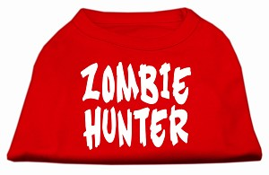 Zombie Hunter Screen Print Shirt Red M (12)