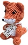 Knit Knacks Kit the Fox Organic Cotton Small Dog Toy