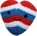 Knit Knacks Hamilton the USA Heart Organic Small Dog Toy