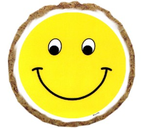 Smiley Face Dog Treats - 6 Pack