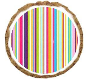 Bright Stripes Dog Treats - 12 Pack