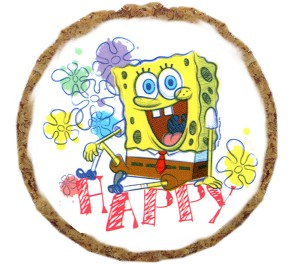 Happy SpongeBob Dog Treats - 12 Pack