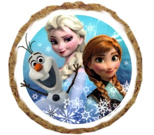 Frozen's Elsa and Anna with Olaf Dog Treats - 12 Pack