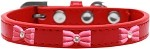 Pink Glitter Bow Widget Dog Collar Red Size 10