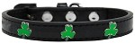 Shamrock Widget Dog Collar Black Size 10