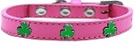 Shamrock Widget Dog Collar Bright Pink Size 10