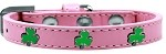 Shamrock Widget Dog Collar Light Pink Size 10