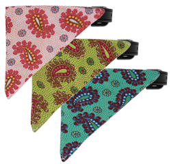 Pretty Paisley Bandana Collars