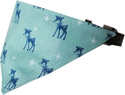 Reindeer Bandana Pet Collar Black Size 16