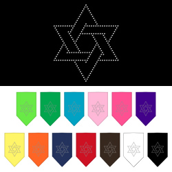 Star Of David Rhinestone Bandana