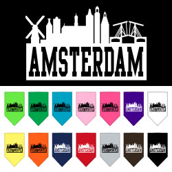 Amsterdam Skyline Screen Print Bandana